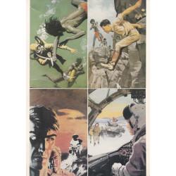 Bob Morane - Planche de 4 cartes postales