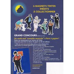 Tintin - 6 magnets - Tintin et Milou