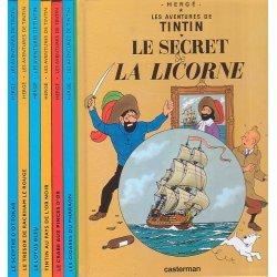 """Tintin - Série de 7 Tintin journal """"Le Soir"""""""
