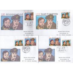 Blake et Mortimer (2004) - Lot de 4 enveloppes