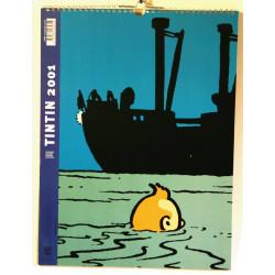 Calendrier 2001 Tintin - Tintin 2001