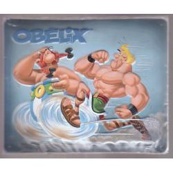 Plaque métallique Obélix