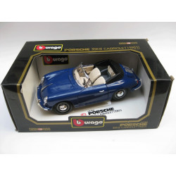 Die-cast metal with plastic parts - Porsche 356 B cabriolet (1961)