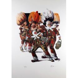 Carnaval de Binche (2) - René Follet - Lancé d'orange