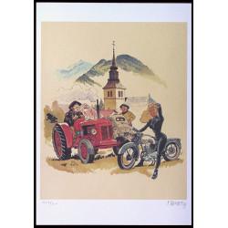 Fanfoué - Le tracteur rouge