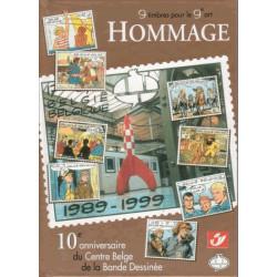 Hommage - 9 timbres pour le 9e art