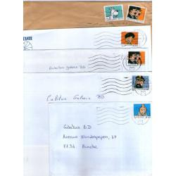 Tintin - timbres divers (lot)